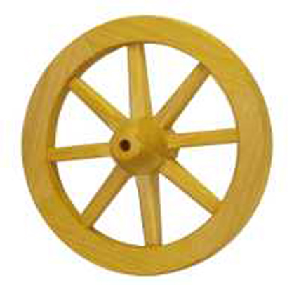 Цельное деревянное колесо.